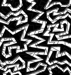 80s geometry seamless pattern in black and white vector image