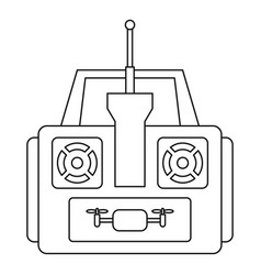 Aerial drone remote control icon outline style vector