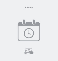 Appointment date and hour - minimal icon vector
