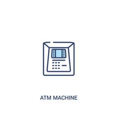 atm machine concept 2 colored icon simple line vector image