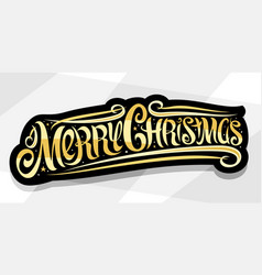 banner for merry christmas vector image