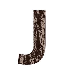 Bark letter J vector