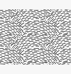 Black marker overlapping hatched waves vector