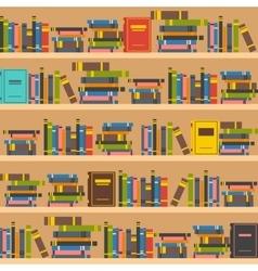 Book shelves vector image