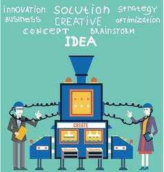 Brainstorm businessman and businesswoman vector
