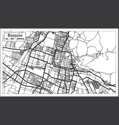 Brescia italy city map in retro style outline map vector