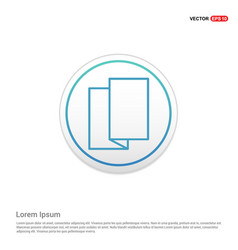 Brochure flyer icon - white circle button vector