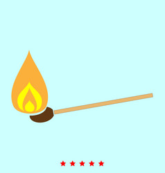 Burning match it is icon vector