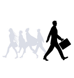business man walking in the street people vector image