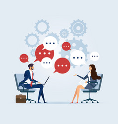 Business meeting with speech bubble vector