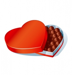chocolate heart box vector image
