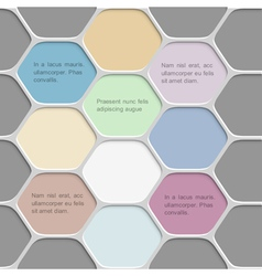 Colored honeycomb pattern background vector image