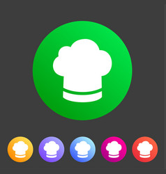 cook chef hat cap icon flat web sign symbol logo vector image