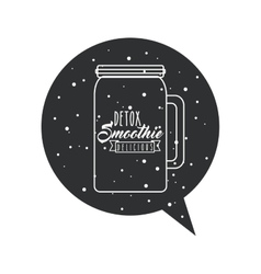 Detox and bubble icon Smoothie and Juice design vector image