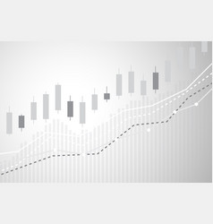 Digital currency with candle stick graph chart vector