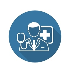 Doctor Consultation Icon Flat Design vector