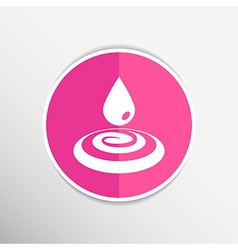 drop cream white droplet paint water rain sweat vector image