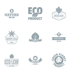 Eco journey logo set simple style vector