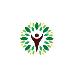 eco people logo icon design vector image