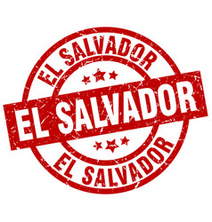 el salvador red round grunge stamp vector image