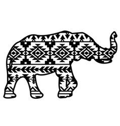 elephant aztec style pattern tribal design ethnic vector image