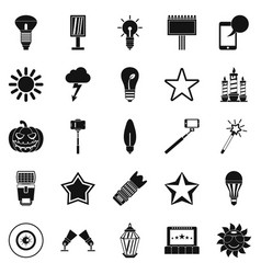 explosion icons set simple style vector image