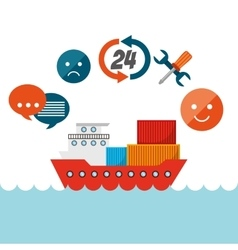Export and import design vector image