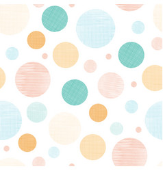 Fabric textured circles seamless pattern print vector