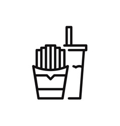 fastfood icon in modern style for web site and vector image