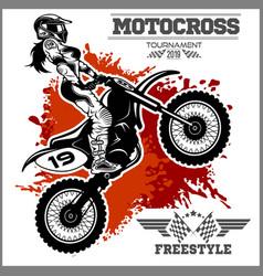 female motocross design - on vector image