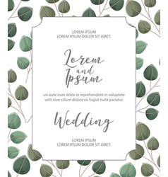 flower wedding card vector image