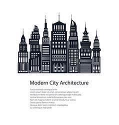 Flyer architecture megapolis vector