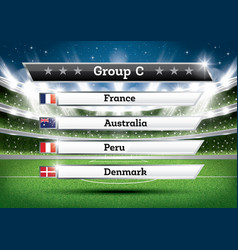 football championship group c soccer world vector image