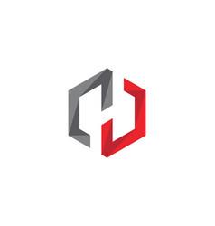 H logo hexagon icon vector