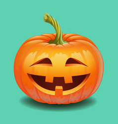 halloween pumpkin face - crazy smile jack o vector image