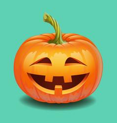 Halloween pumpkin face - crazy smile jack o vector
