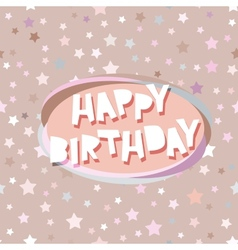 Happy birthday card seamless pattern with stars vector