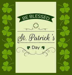 Happy st patricks day typographical template vector