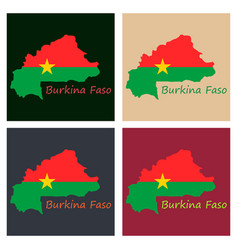 Highly detailed country silhouette with flag vector