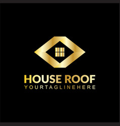 house building business logo vector image
