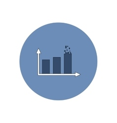 in flat design of column chart vector image