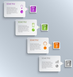 Info graphic steps design template vector
