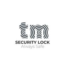 Initial letter fingerprint logo vector