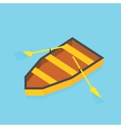 Isometric paddle boat on water vector