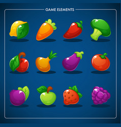 Little farm match 3 mobile game games objects vector