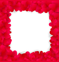 love valentines or wedding elegant frame made of vector image