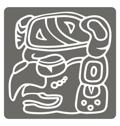 Monochrome icon with glyphs of the Maya periods vector