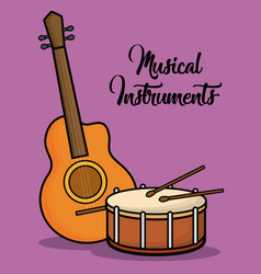 Musical instruments design vector