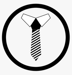 Necktie icon black white vector