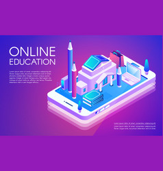 Online education technology vector